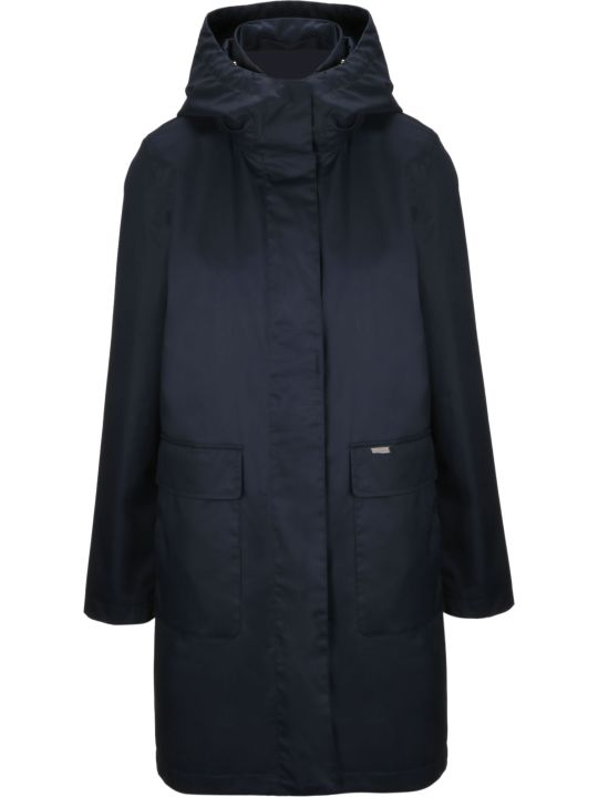 Woolrich Zipped Long Jacket