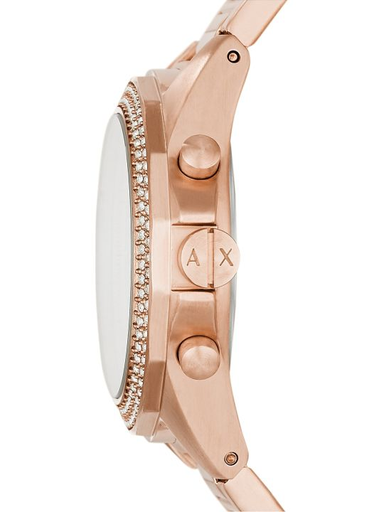 Armani Collezioni Armani Exchange Lady Drexler Rose Gold Tone Chronograph Watch