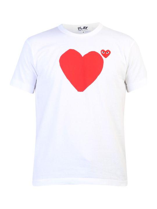 Comme des Garçons Play Logo Embroidery Cotton T-shirt