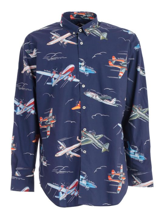 Love Moschino Shirt L/s Airplanes Printing
