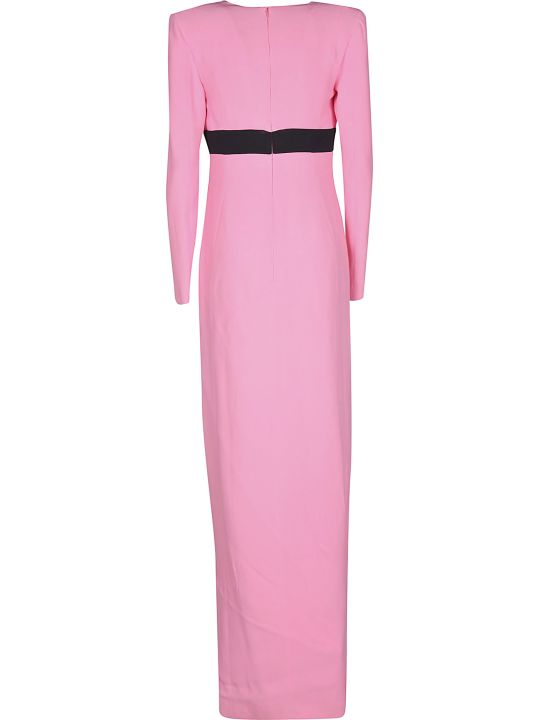 Fausto Puglisi Long V-neck Dress