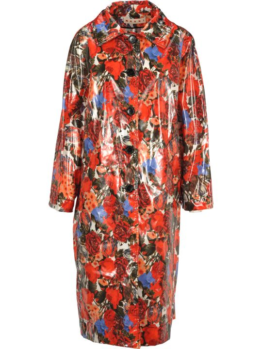 Marni Trench Flower Print