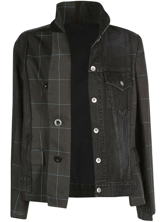 Sacai Glencheck Denim Jacket
