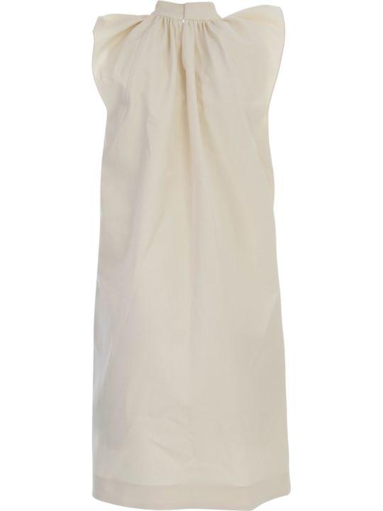 Victoria Beckham Rouched Shoulder Sleevless Dress
