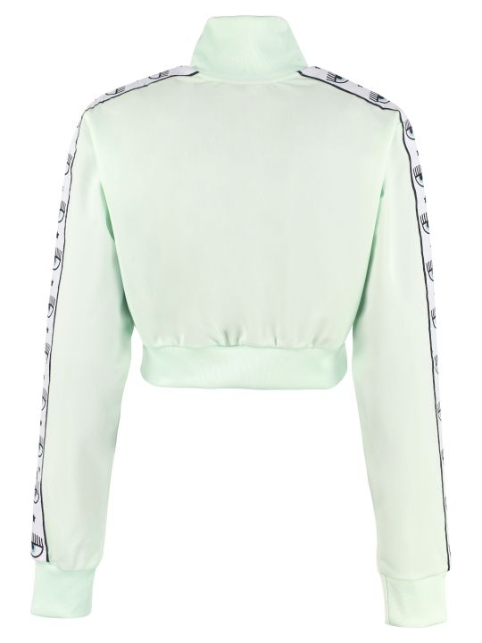 Chiara Ferragni Cropped Full Zip Sweatshirt