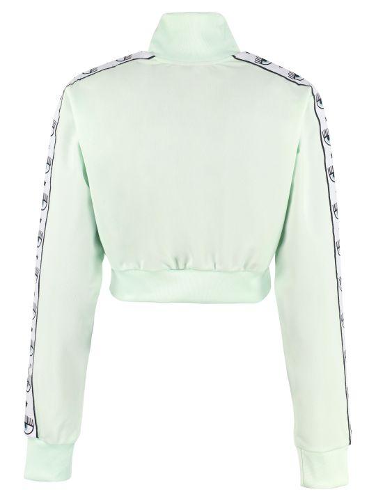 Chiara Ferragni Cropped Full Zip Sweatshirt