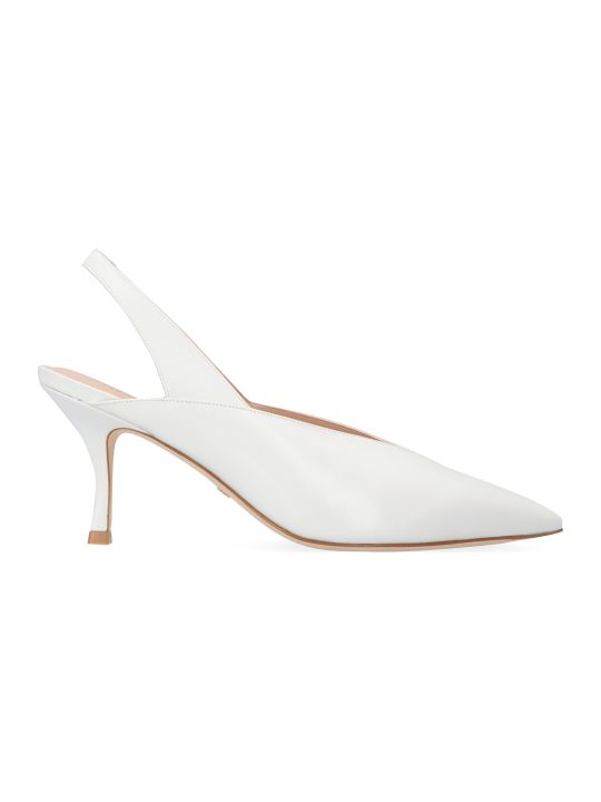 Stuart Weitzman Avianna Leather Slingback Pumps