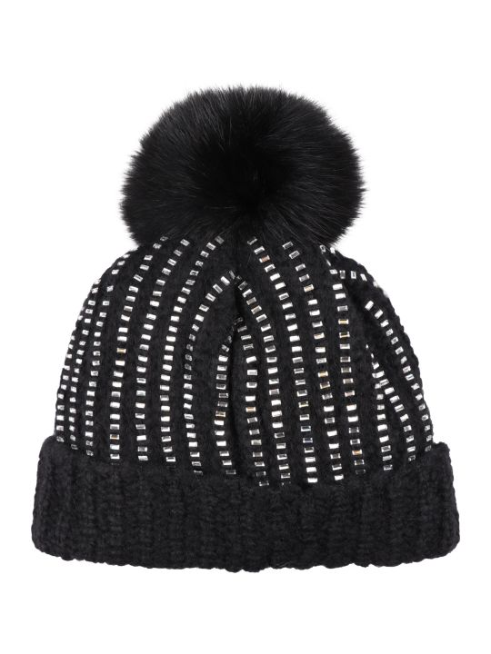 Best price on the market at italist | Moncler Moncler Pom pon Detail Tricot Knit Beanie