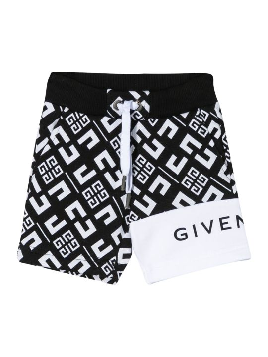 Givenchy Kids Printed Running Shorts