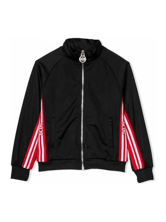 GCDS Black Striped Logo Track Jacket