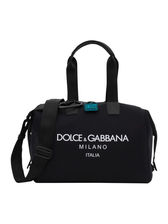 Dolce & Gabbana Neoprene Palermo Bag With Printed Logo
