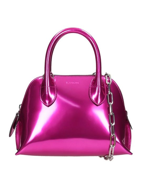 Lanvin Mini Bugatti Shoulder Bag In Fuxia Leather