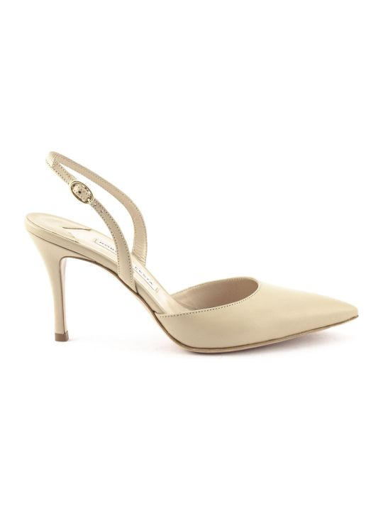 Roberto Festa Gravitas Pump In Beige Leather
