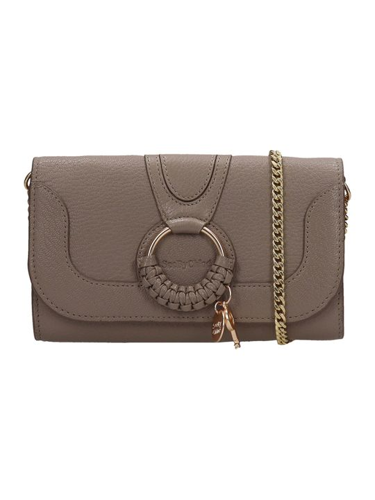 See by Chloé Hana Long Wallet In Grey Leather