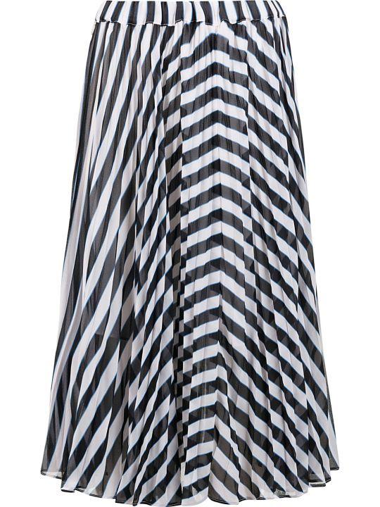 MICHAEL Michael Kors Stripe Pleated Skirt