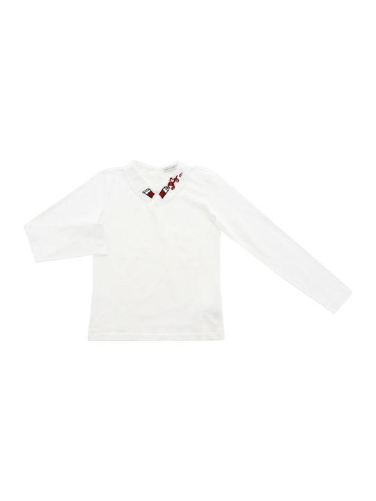 Dolce & Gabbana T-shirt Manica Lunga Bianco Ottico