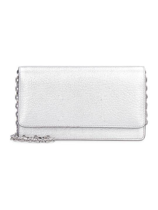 Maison Margiela Metallic Leather Wallet On Chain