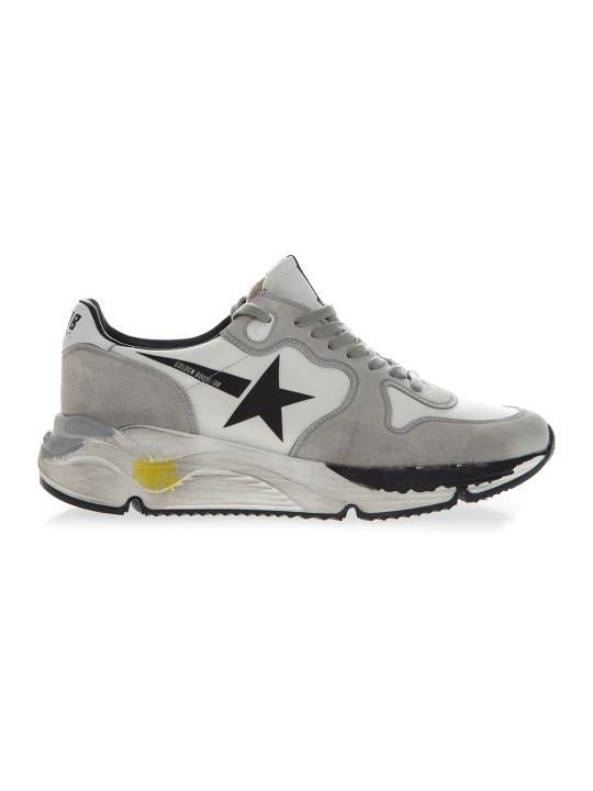Golden Goose Gray Suede Star Printed Sneakers