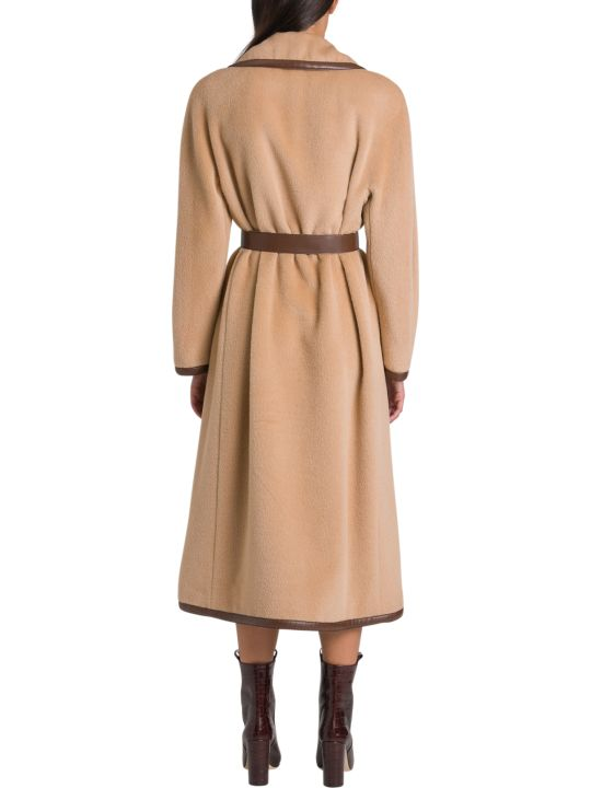 Alberta Ferretti Long Belt Coat