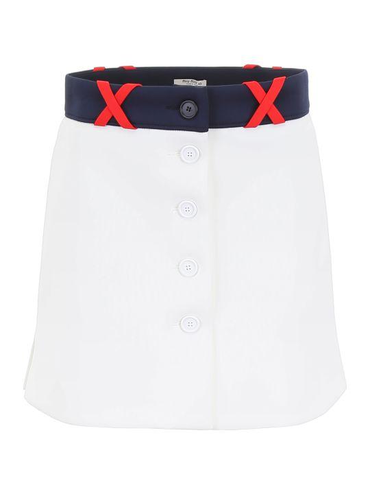 Miu Miu Buttoned Mini Skirt