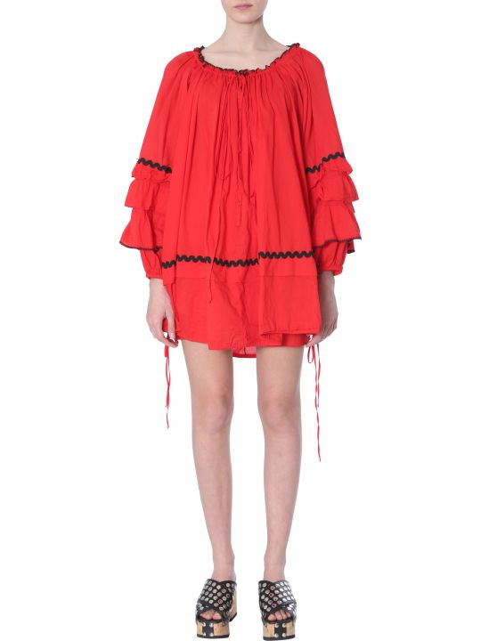 McQ Alexander McQueen Dress With Appliquéd Trims