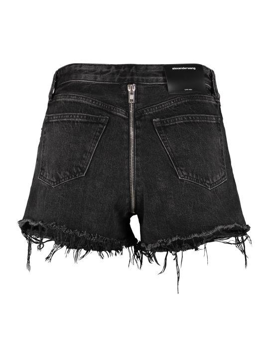 Alexander Wang Bite Zip High-rise Cut-off Denim Shorts