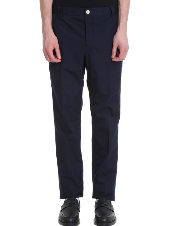 Thom Browne Blue Cotton Pants