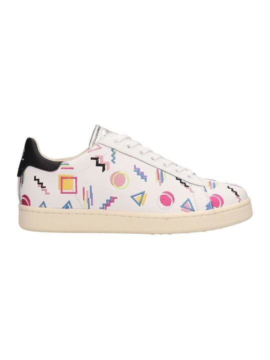 M.O.A. master of arts White Leather Patchwork Sneakers