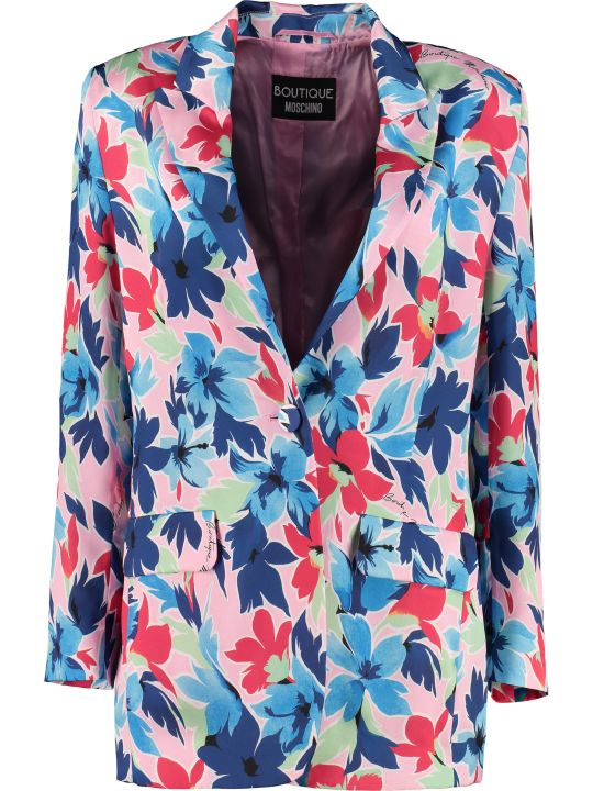 Boutique Moschino Printed Single-breasted Blazer