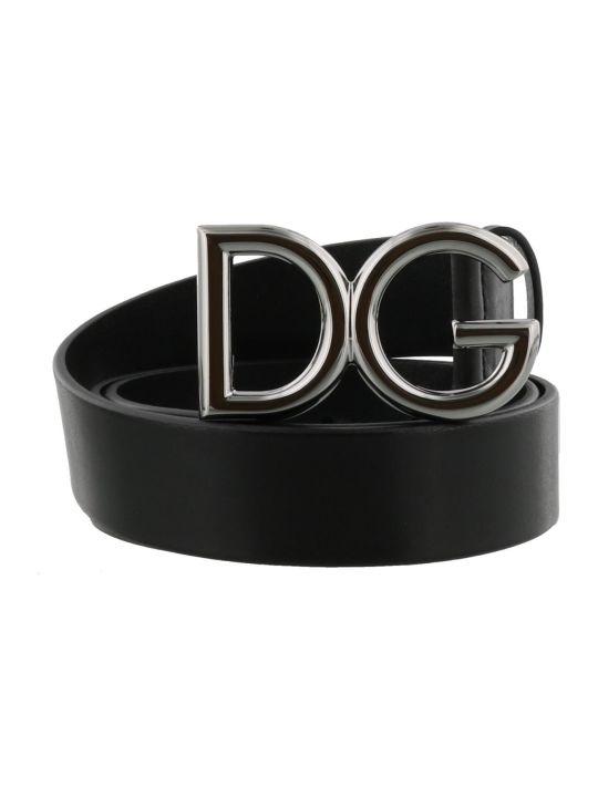 Dolce & Gabbana Logo Dg Buckle Belt