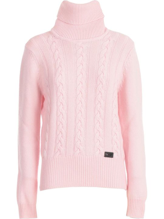 Be Blumarine Sweater L/s High Neck W/braid