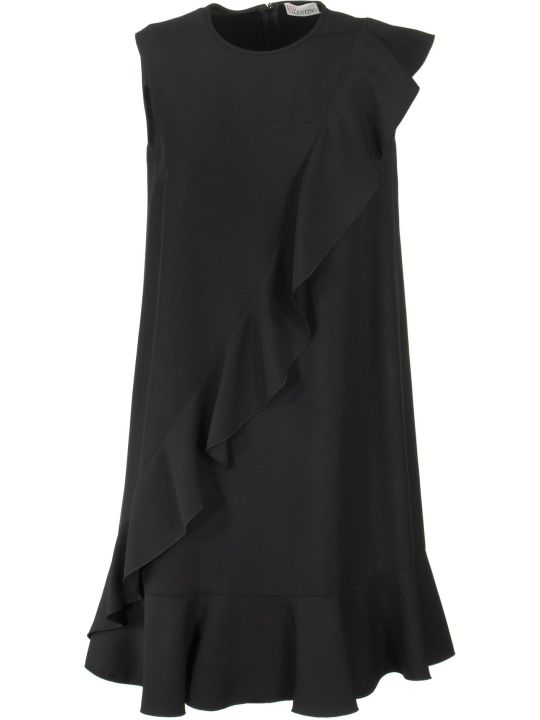 RED Valentino Ruffle Detail Shift Sleeveless Dress