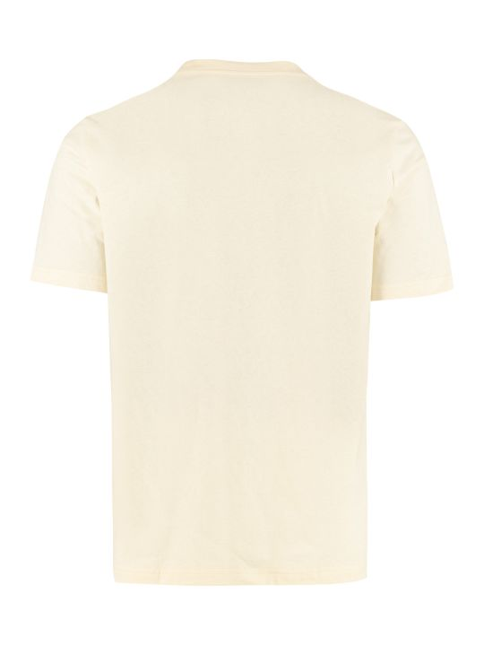 Lanvin Short Sleeves Printed Cotton T-shirt