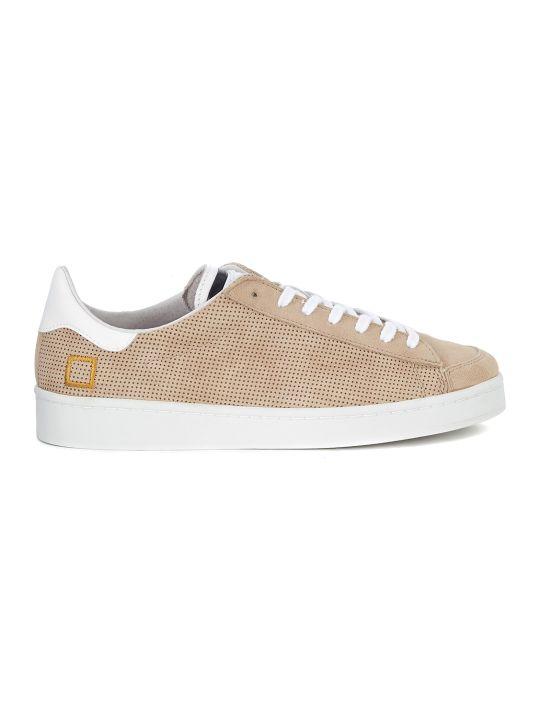 D.A.T.E. Sneaker D.a.t.e. Twist Perforated In Camoscio Beige Traforato