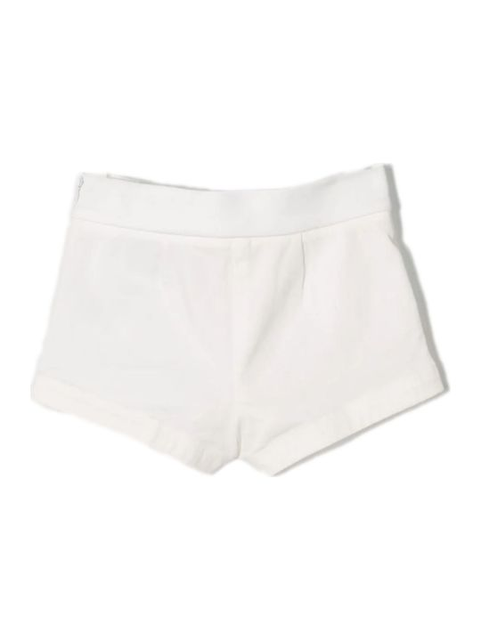Moncler White Cotton Shorts
