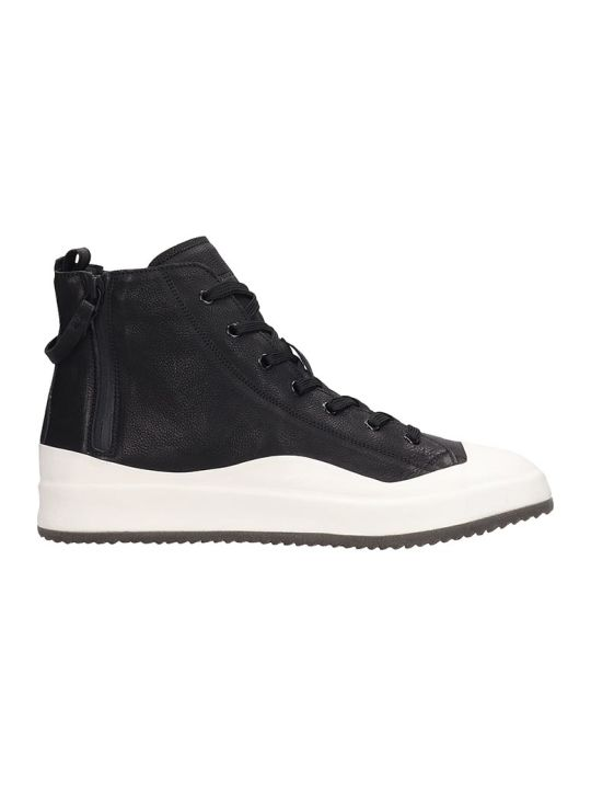 Officine Creative Ace Sneakers In Black Leather
