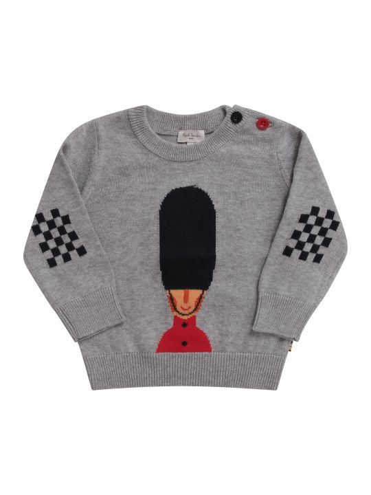 Paul Smith Junior Grey Babyboy Sweater With Queen's Guard