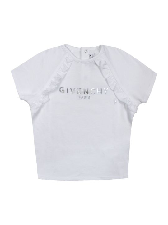 Givenchy White Cotton Blend T-shirt