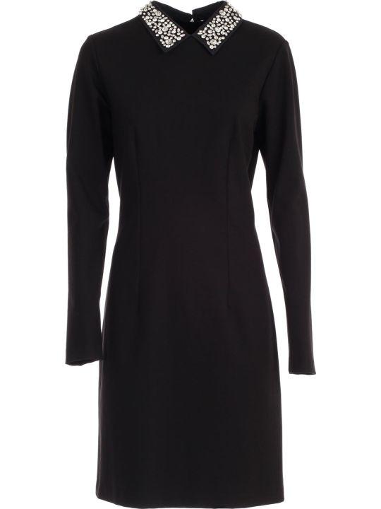 Be Blumarine Dress L/s Pencilswarovsky Collar