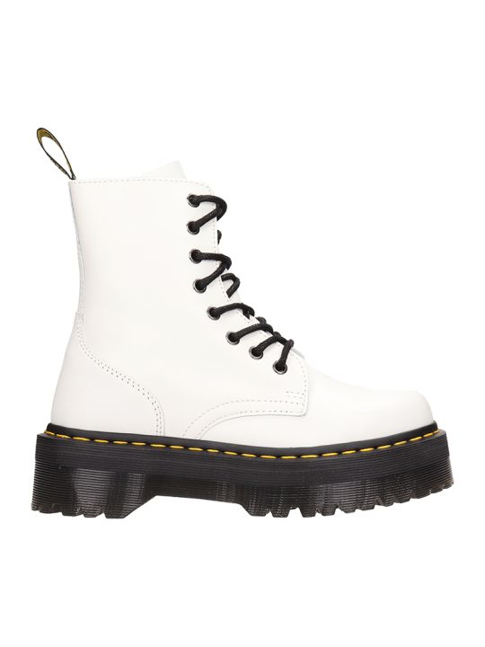 Dr. Martens White Leather Jadon Amphibians