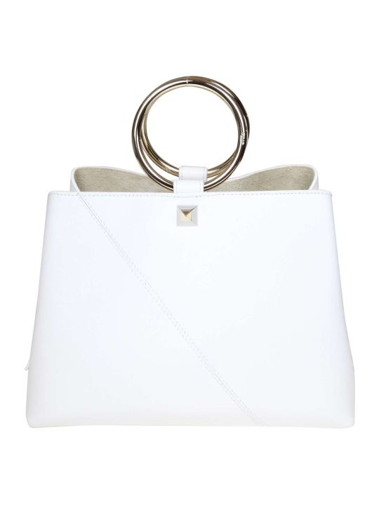 Salar Handbag Polly In White Leather