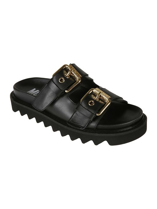Moschino Double-strap Buckled Sandals