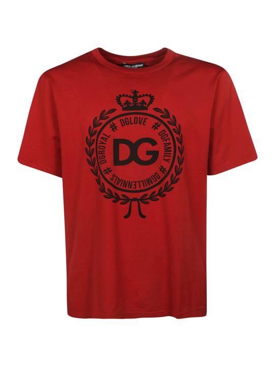 Dolce & Gabbana Dg Crest Logo T-shirt