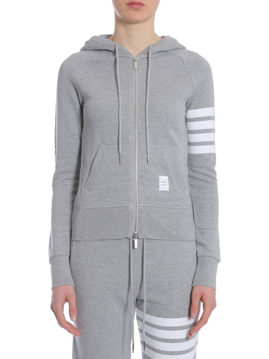 Thom Browne Hooded Zip-up Sweatshirt