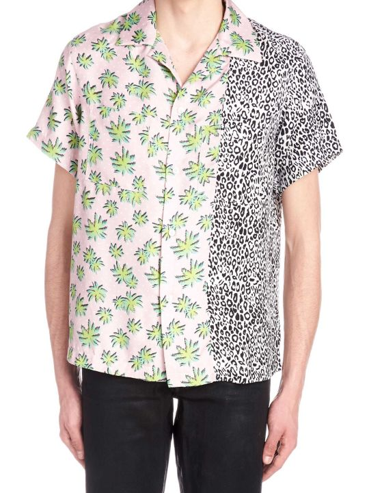 AMIRI 'split Palm Leopard' Shirt