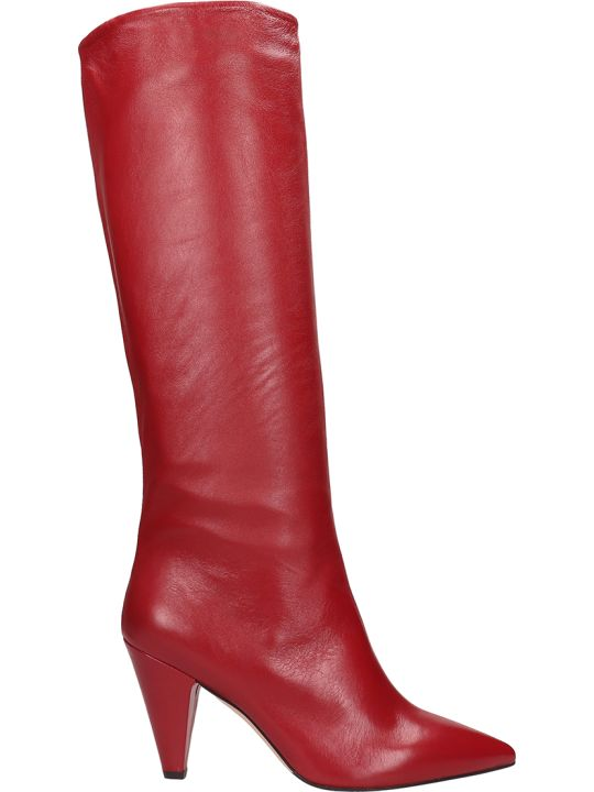 The Seller Red Leather High Boot