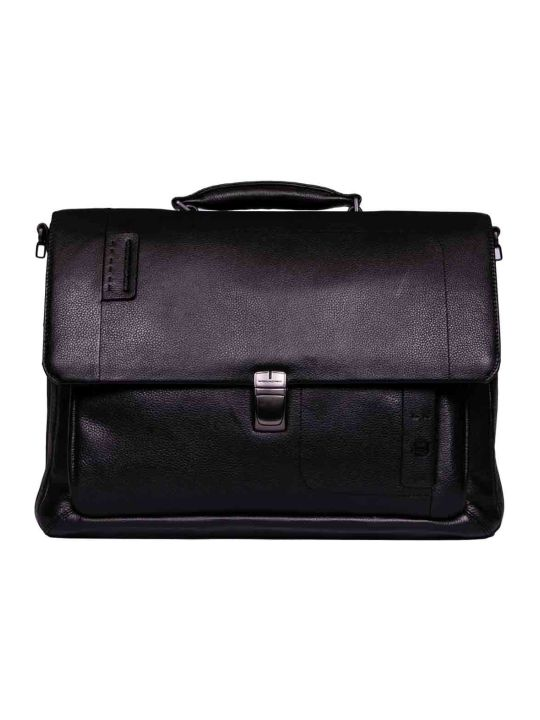 Piquadro Expandable Briefcase Flap
