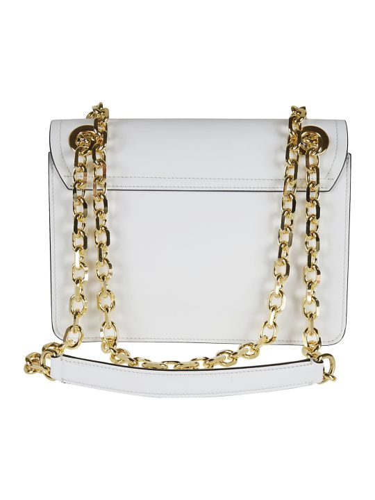 Moschino Flap Logo Plaque Shoulder Bag