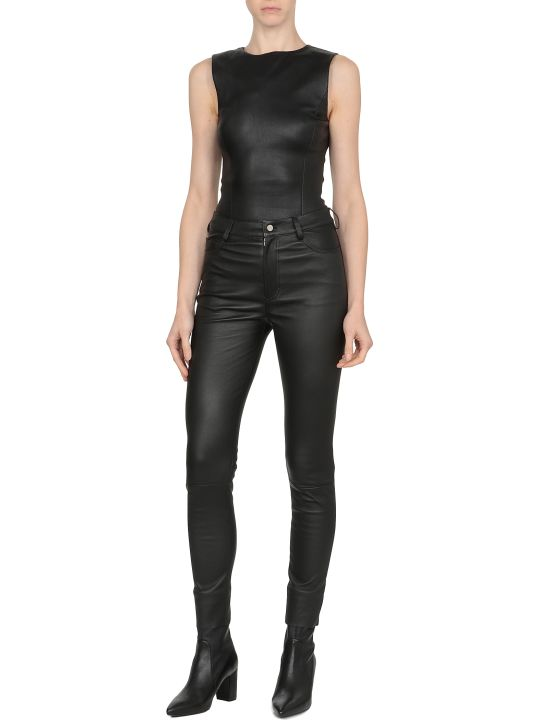 DROMe Smooth Leather Trousers