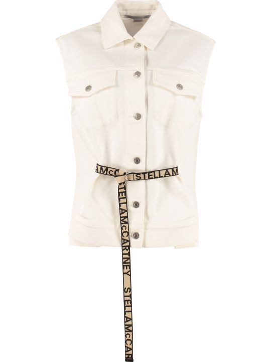 Stella McCartney Belted Denim Vest